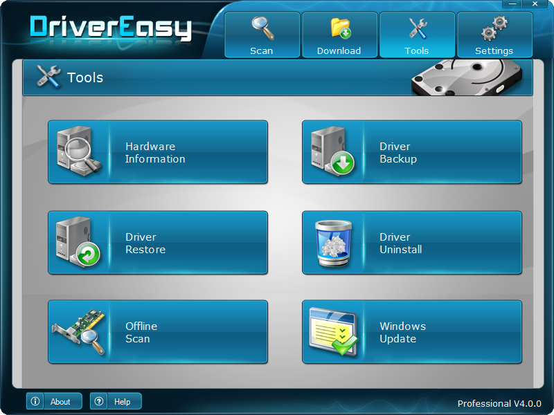 ���� ����� ����� �� ��������� ������ ��� ����� DriverEasy Professional 4.6.3