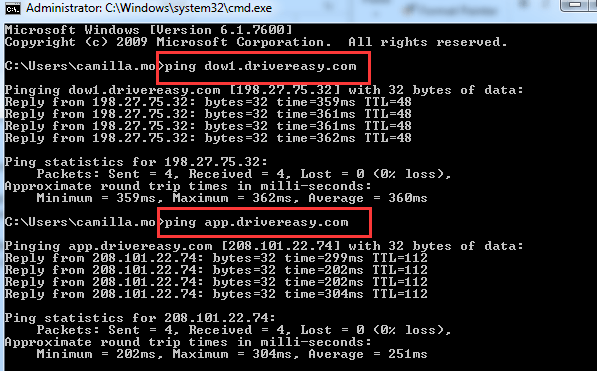 How to use ping command to check internet connection ...