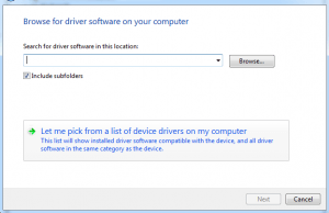 windows 7 manually install driver inf file
