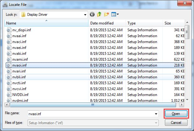 how to open a inf files on windows