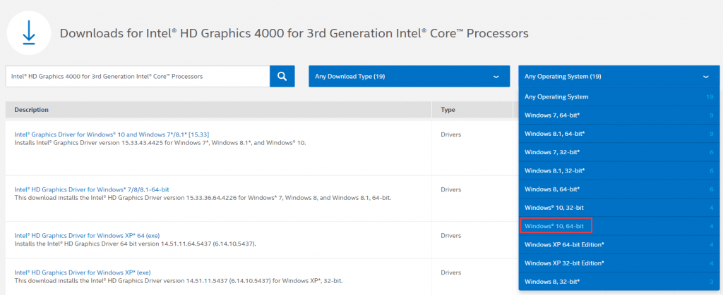 Download Intel HD Graphics 4000 Driver 9.18.10.3222 64-bit ...