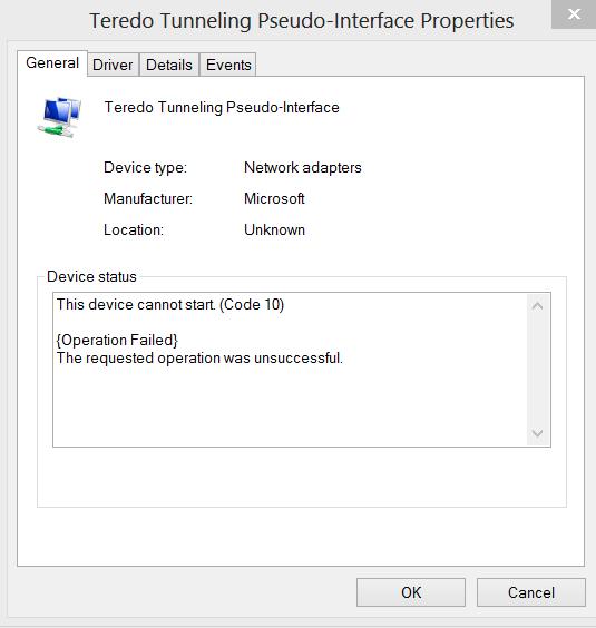 Microsoft Teredo Tunneling Adapter Driver Download Windows 8 64 Bit