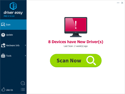 Driver Easy scan interface