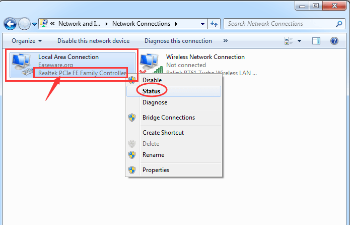 Re-installed windows 7 Ethernet controller drivers missing