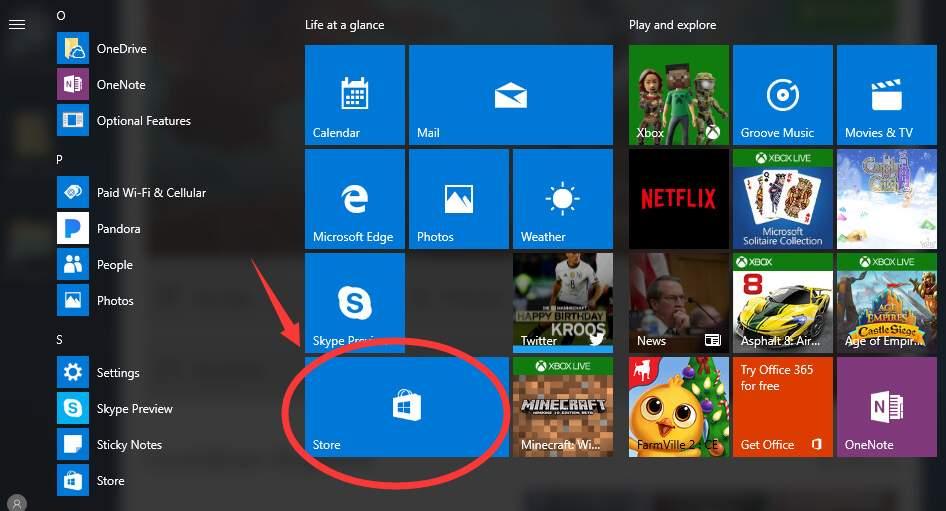 Windows around blue box 10 on text