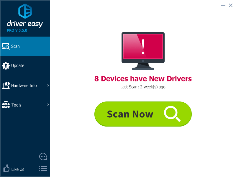 Click to view Driver Easy 5.5.5.4057 screenshot